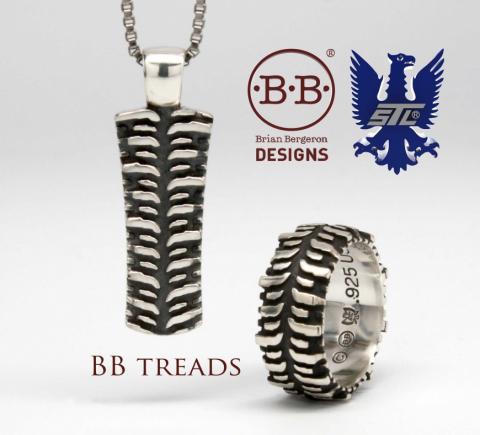Brian Bergeron Designs Tire Rings And Pendants